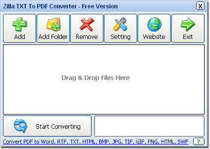 Zilla TXT To PDF Converter - FREEWARE